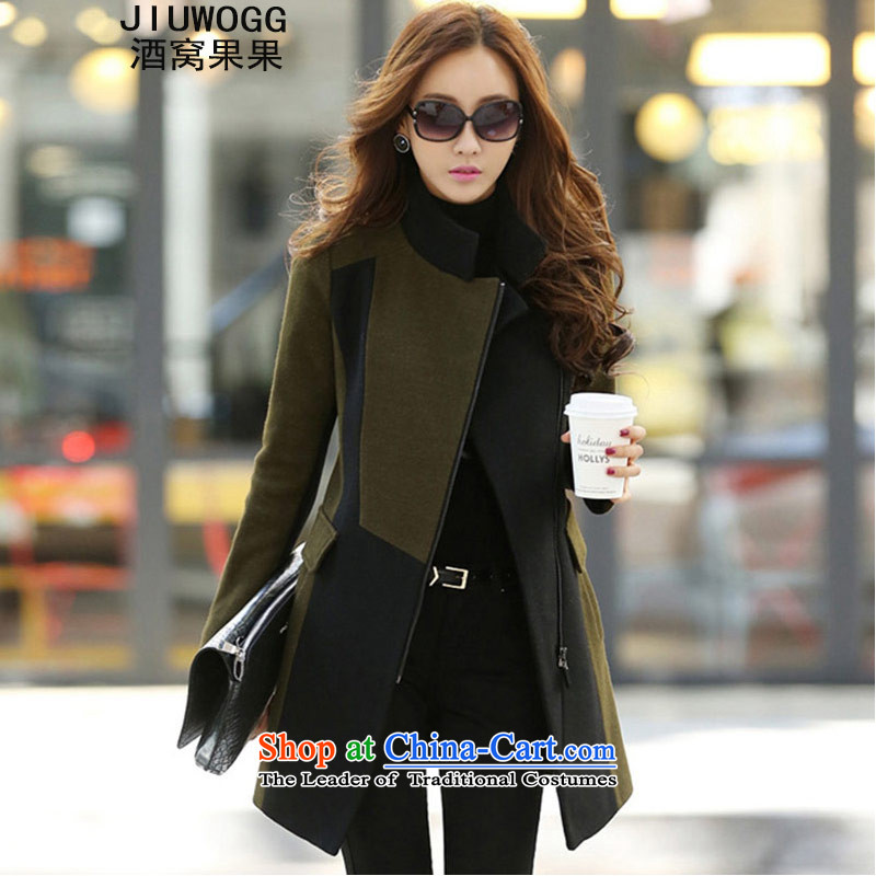 Dimple jelly 2015 autumn and winter new Korean Foutune of gross? Long butted thick coat female 503 Sau San picture color聽L