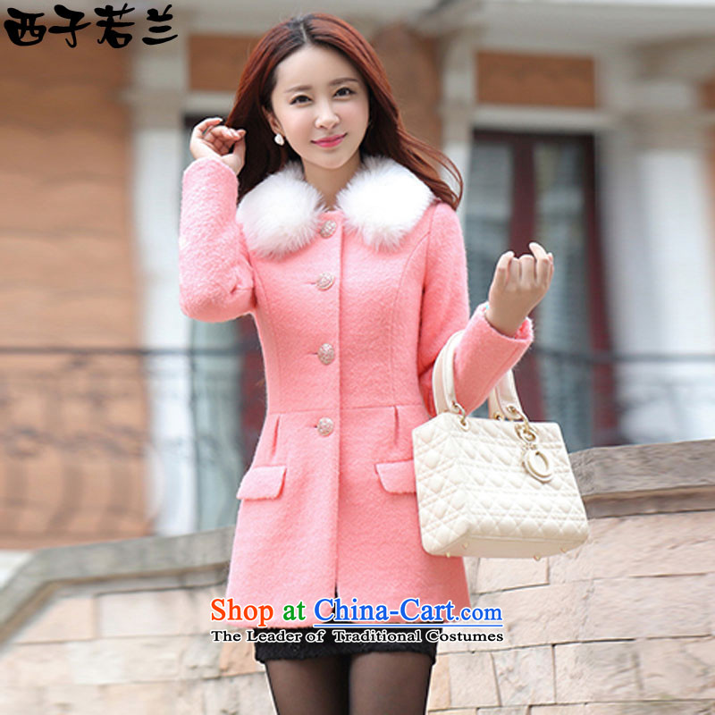 Hsitzu jorin gross coats female autumn and winter? Boxed 2015 new sub-jacket in this long coats 1,605 pink L
