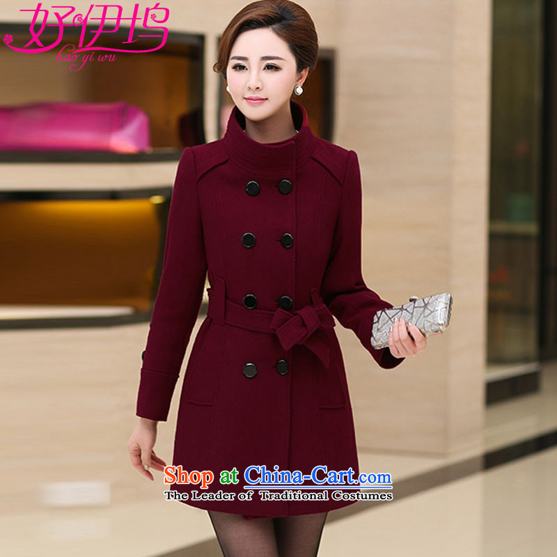Good El docking?2015 autumn and winter new Korean female jacket coat gross? temperament large a wool coat in Long 1602 2666 4289?M