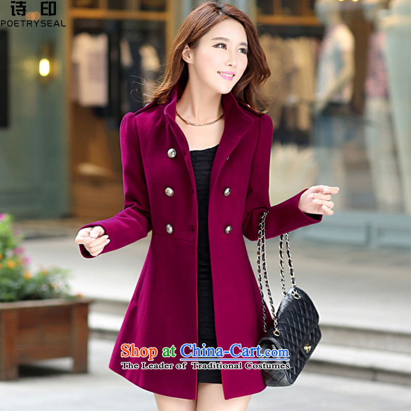 Poetry and India 2015 Fall_Winter Collections? a new coats of Sau San Korean Women's jacket a gross? coats wine red燣