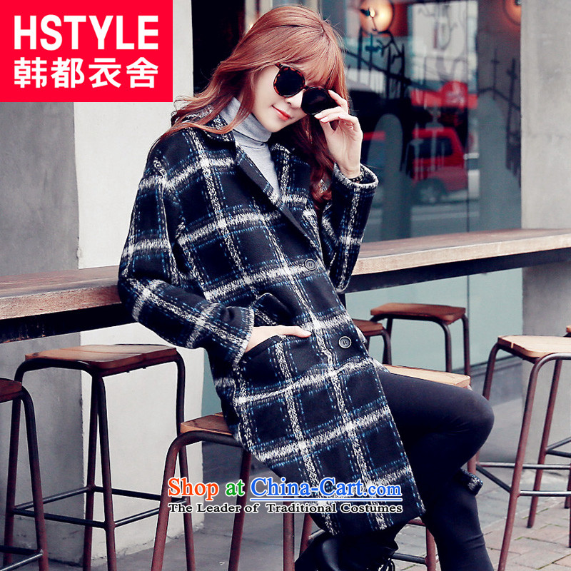 Korea has the Korean version of the Dag Hammarskjöld yi 2015 Autumn replacing new women's blue patterned relaxd stylish youth gross NW4911 jacket? Blue restaurant L