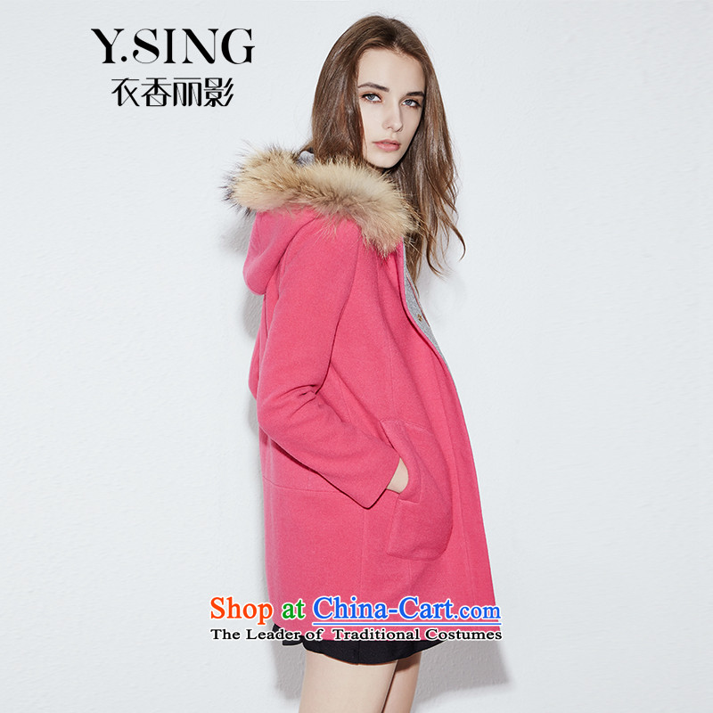 Hong Lai Ying 2015 winter clothing new temperament with cap for the medium to longer term Gross Gross聽951118211 girl聽in the jacket is Red _14 L shoulder is too small.
