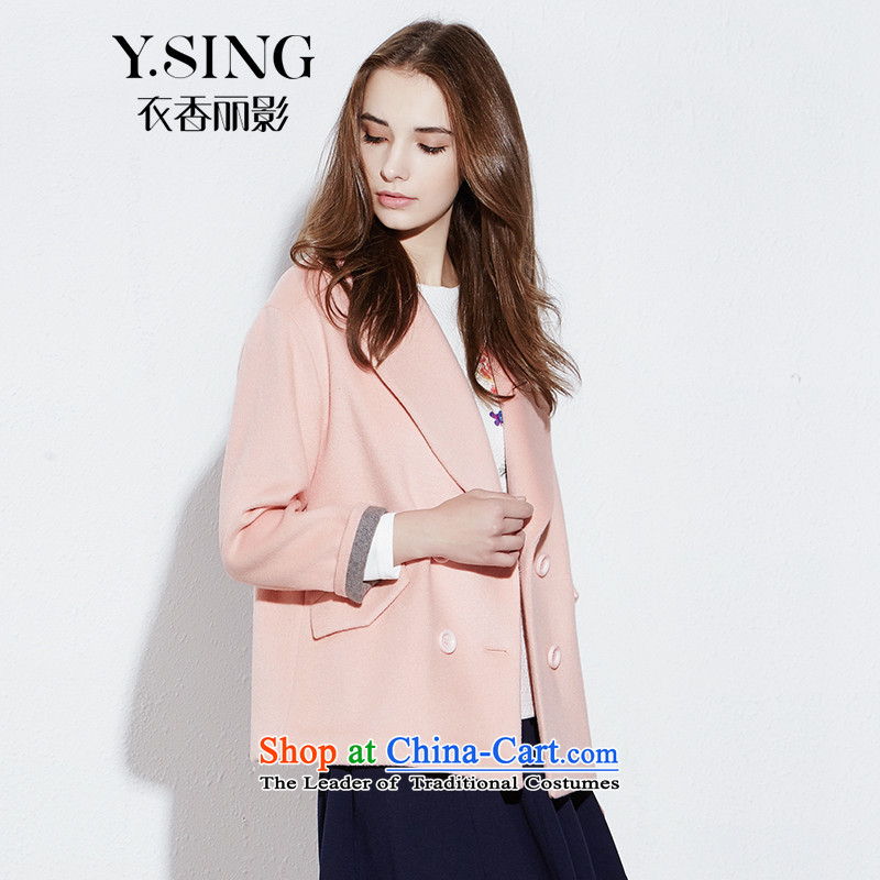 [i] to buy three from Hong Lai Ying 2015 winter clothing new temperament and double-fresh coat female short hair? bare pink 13 XS to large a code