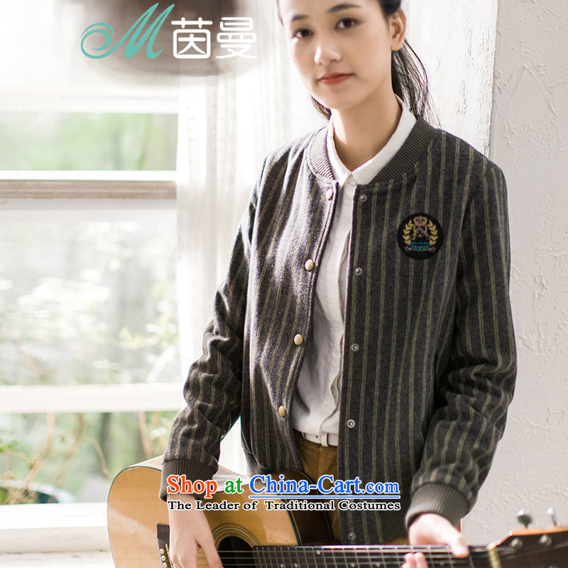 Athena Chu Cayman new minimalist thread stitching badges embroidered jacket? Wild Women (8533220088- Army greenL
