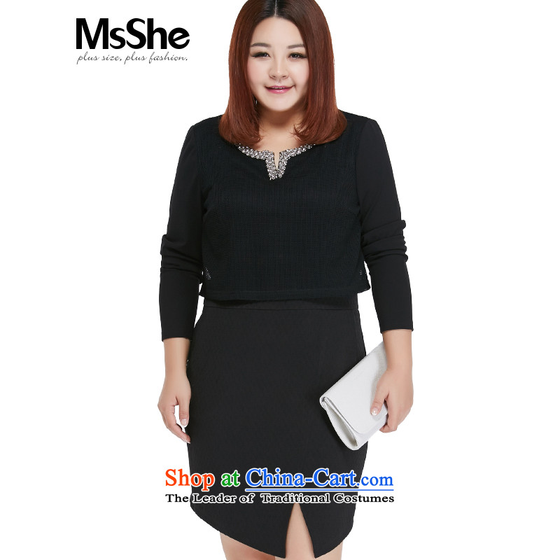 To increase the number msshe women 2015 new autumn replacing thick MM mahogany and for Sau San dresses 25981 2XL Black