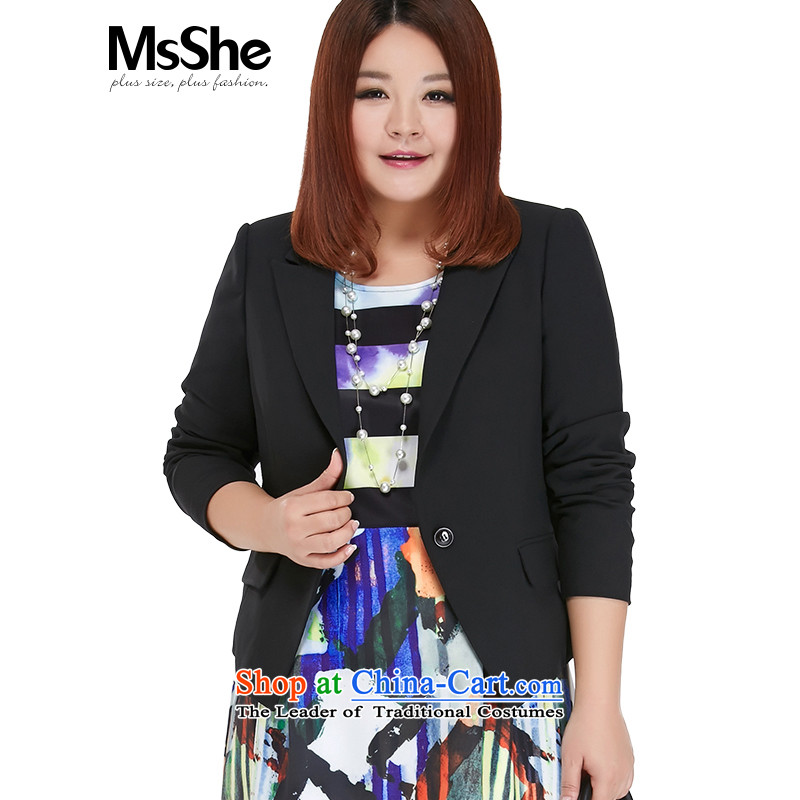 Large msshe women 2015 new mm thick autumn replacing professional attire suits cardigan jacket Sau San 10239 Black�L