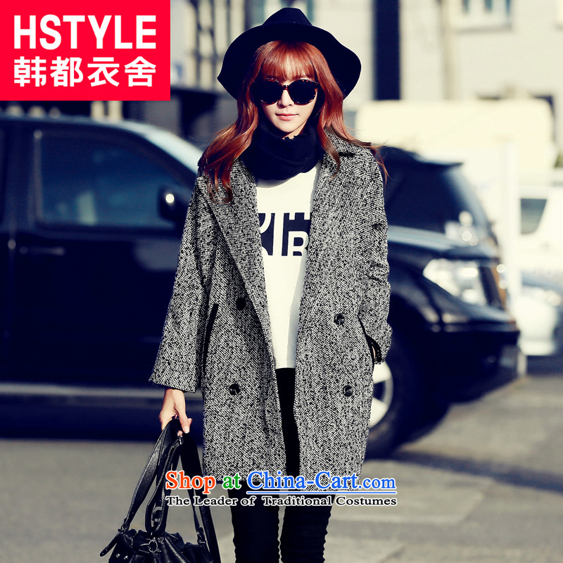 Korea has the Korean version of the Dag Hammarskjöld yi 2015 winter clothing new products in the Liberal Women's gray long jacket OU4547 gross? Restaurant Gray L