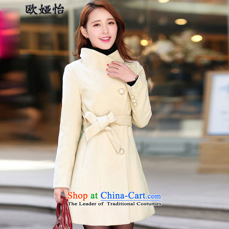 The OSCE Tarja Halonen Selina Chow 2015 gross female autumn and winter coats? boxed version won for women in new long hair? coats large Sau San shirts female 30.92 beige燤