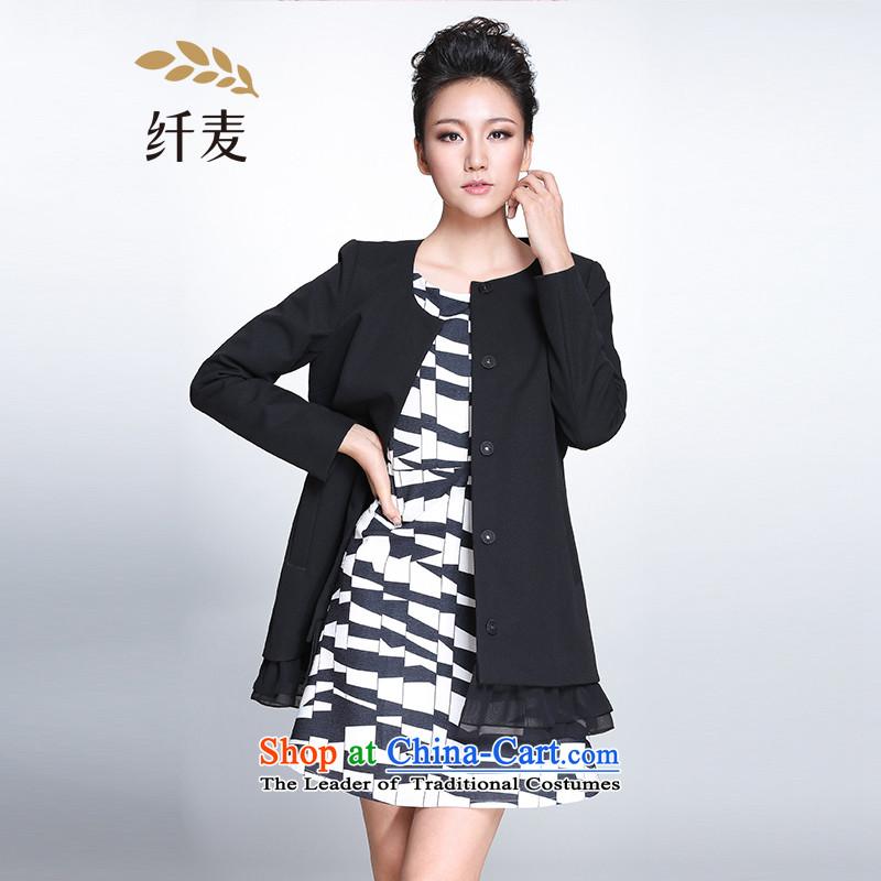 The former Yugoslavia Migdal Code women 2015 Autumn replacing new stylish mm thick gauze stitching jacket female�1047316 Sau San燽lack燣