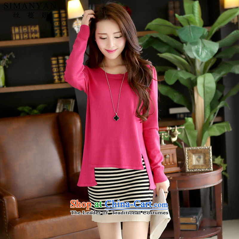 Charlene Choi�15 Autumn population Overgrown Tomb new larger women in forming the long sleeved clothes爄n the autumn s8115 female red are code
