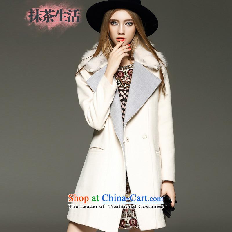 Matcha life? female coats wool wind jacket, long winter 2015 New Sau San? jacket white燩UERTORRICANS gross pre-sale 10 days_