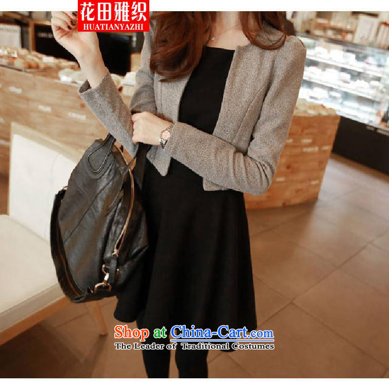 Hanata Nga weaving xl women fall on long-sleeved jacket small MM thick video thin dresses in long kit two kits for larger XXXL Carbon