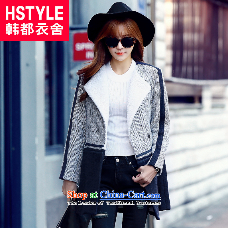 Korea has the Korean version of the Dag Hammarskjöld yi 2015 winter clothing new products with ivory modern white stitching medium to long term youth gross JM4680 jacket? Ivory Restaurant S