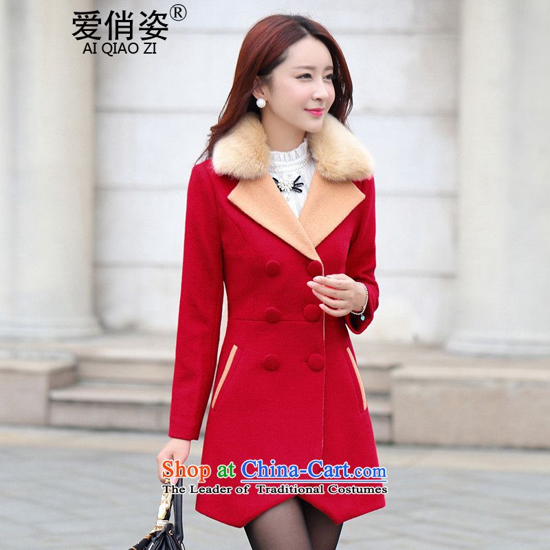 Love Is gross coats Girl Gigi Lai? jacket of autumn and winter 2015 new lady a windbreaker. Long Korean Lapel Sau San video thin double-large red jacket? gross XL