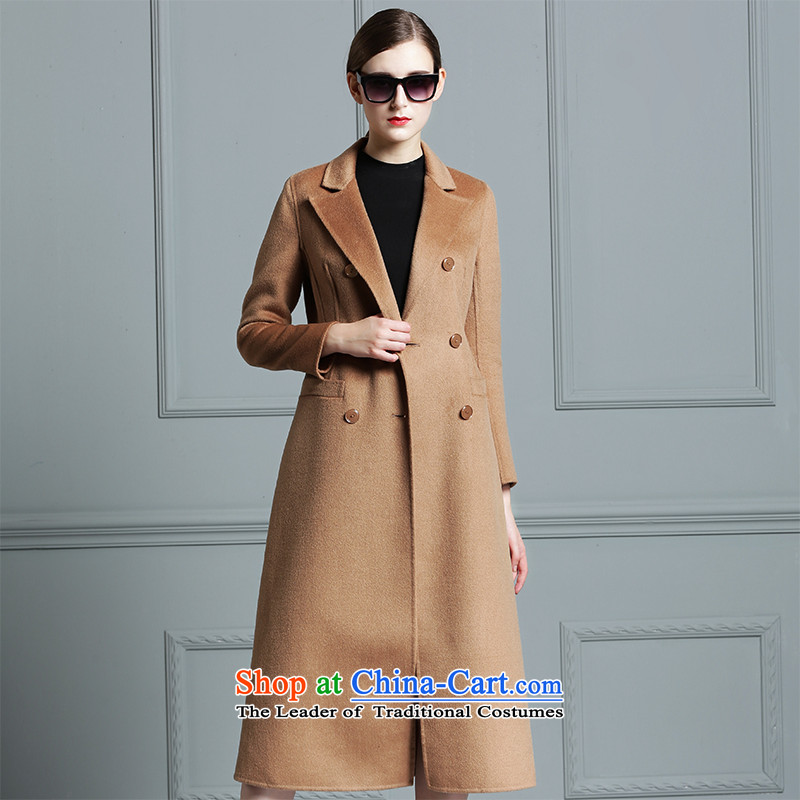 燭he new 2015 snow caused two-sided cashmere overcoat, Sau San windbreaker fleece silk blended colors and long double-coats and Color燤
