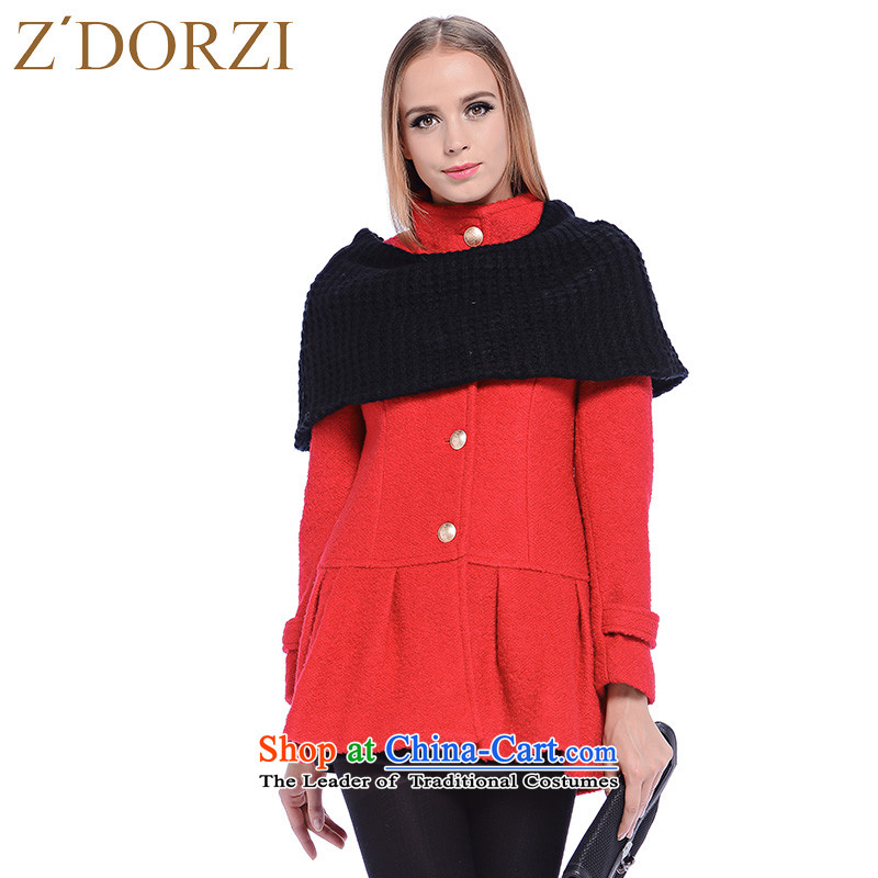 Zdorzi colorful Cheuk-yan autumn and winter in new long solid color jacket 928290? The Red燣