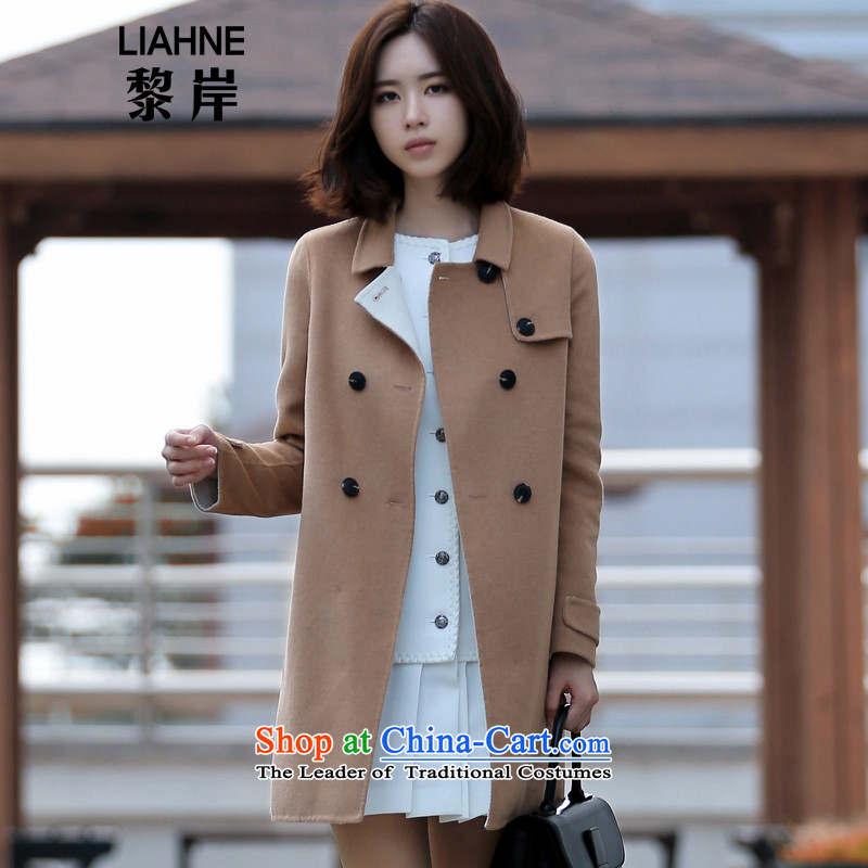 In offshore long Lai double-side woolen coat female new Korean version of 2015 a double-winter coats gross Ms.?) 5213 and Color M