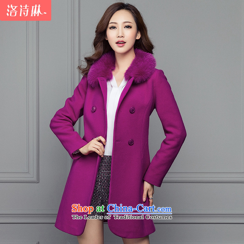 The poem Lin?2015 LUXLEAD autumn and winter new products for name-yuan gross fox temperament. long coats of lint? The Red?L