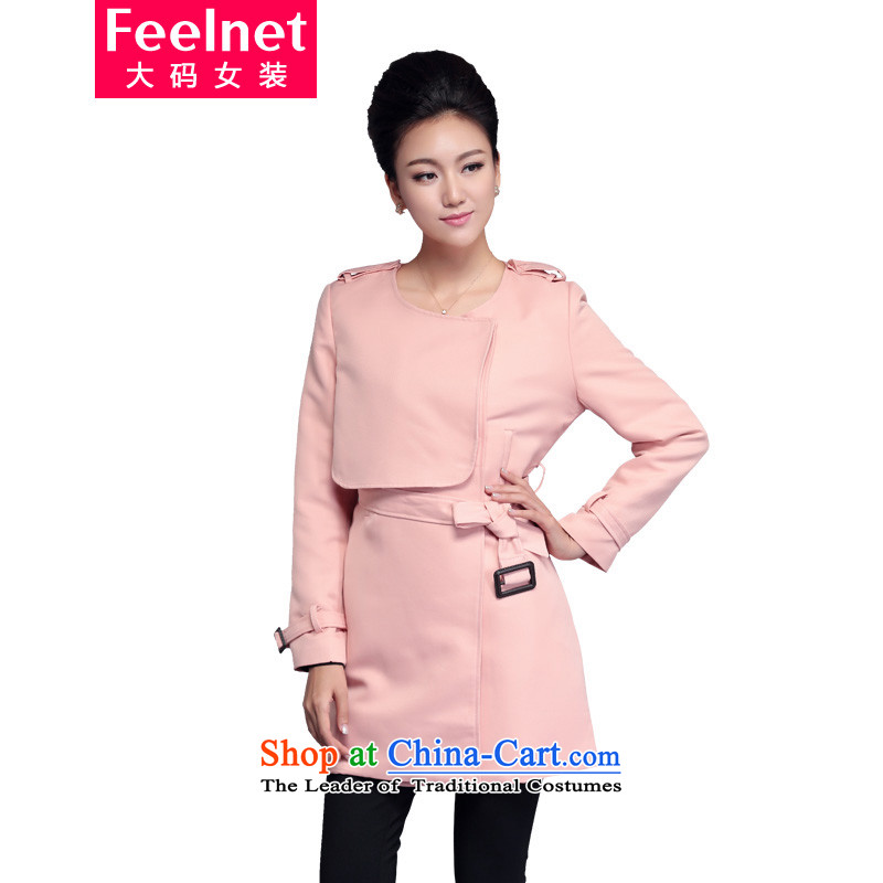 Thick mm Ultra 2015 Autumn boxed version won thin thick large sister women in long large wind jacket 1762 pink� Recommendations 70-90 kg