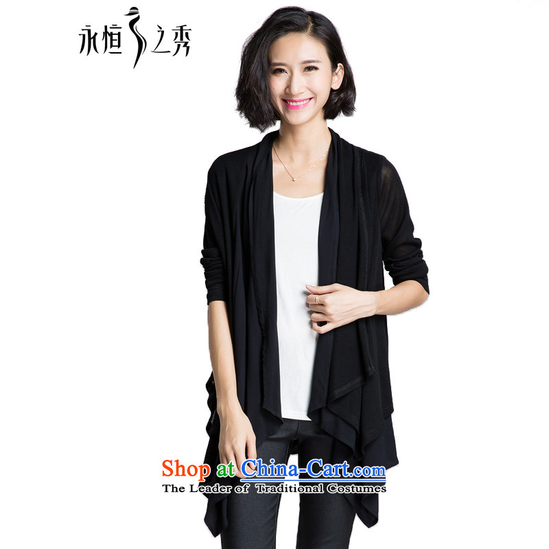 The Eternal Soo-To increase the number of ladies' knitted Cardigan Coat 2015 Fall_Winter Collections of new products thick mm thick, Hin stylish sister thin, Korean Knitted Shirt Jacket�L Black