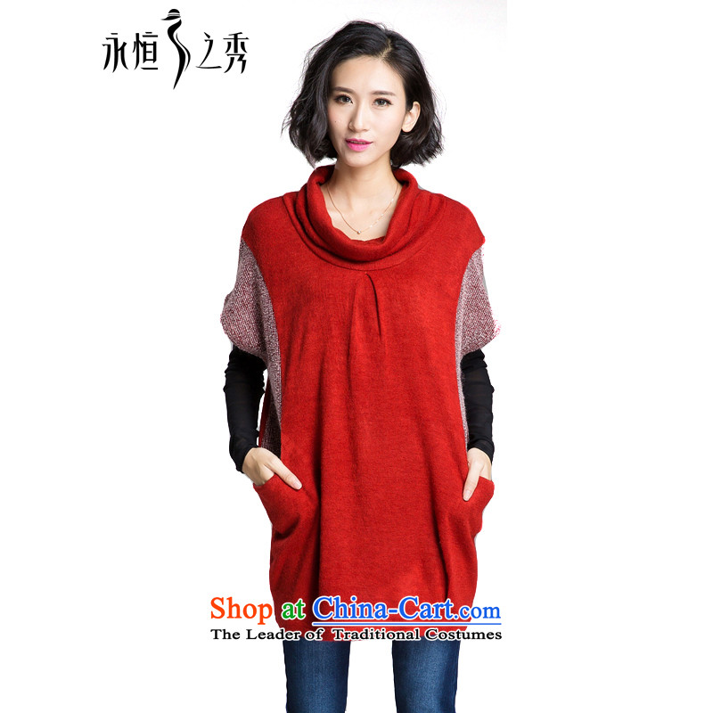The Eternal Soo-to increase women's code, a new, Autumn 2015 MM thick Korean version of SISTER heap heap for thick, Hin 200 catties loose coat thin coat�L chestnut horses