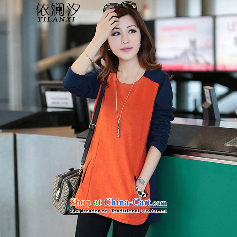 In accordance with the World�15 autumn leaves inside the new Korean women in large long autumn and winter clothes, forming the Netherlands relaxd long-sleeved T-shirt women 8961 Red燲XL