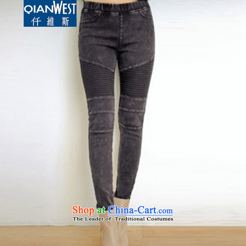 The Scarlet Letter, thick sister larger jeans large 2015 Women's 200 catties thick mm to xl elastic elastic waist jeans 6127 without lint-free_ 2XL recommended weight 120-140 catty