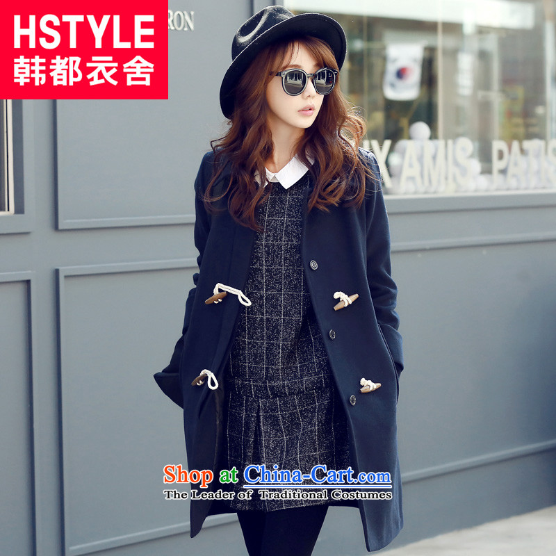 Korea has the Korean version of the Dag Hammarskj鰈d yi 2015 winter clothing new women's solid color jacket PC4495?_6_ gross燽lue燬