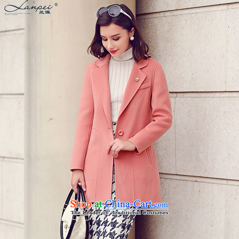 Ho Pui 2015 new manually-sided flannel woolen coat female suits for double-sided woolens wool coat and toner S?