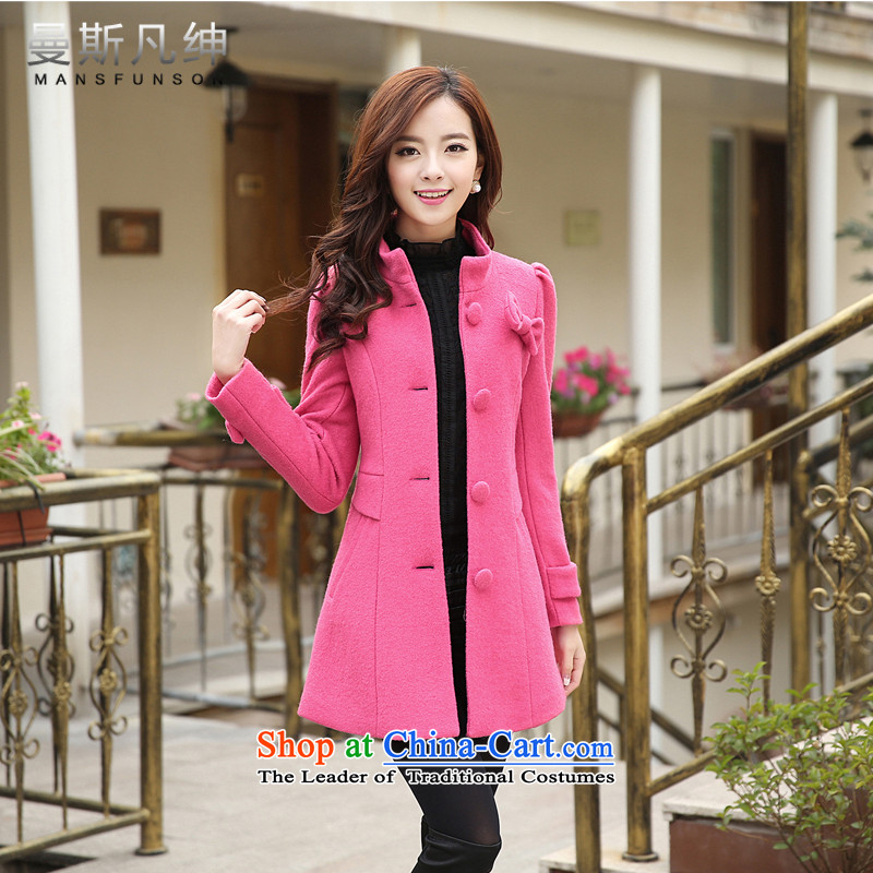 Maans where Clifford Chance? Women's blouses coats gross 2015 autumn and winter female new a windbreaker. Long Korean collar loose video thin single row detained honey RED?M