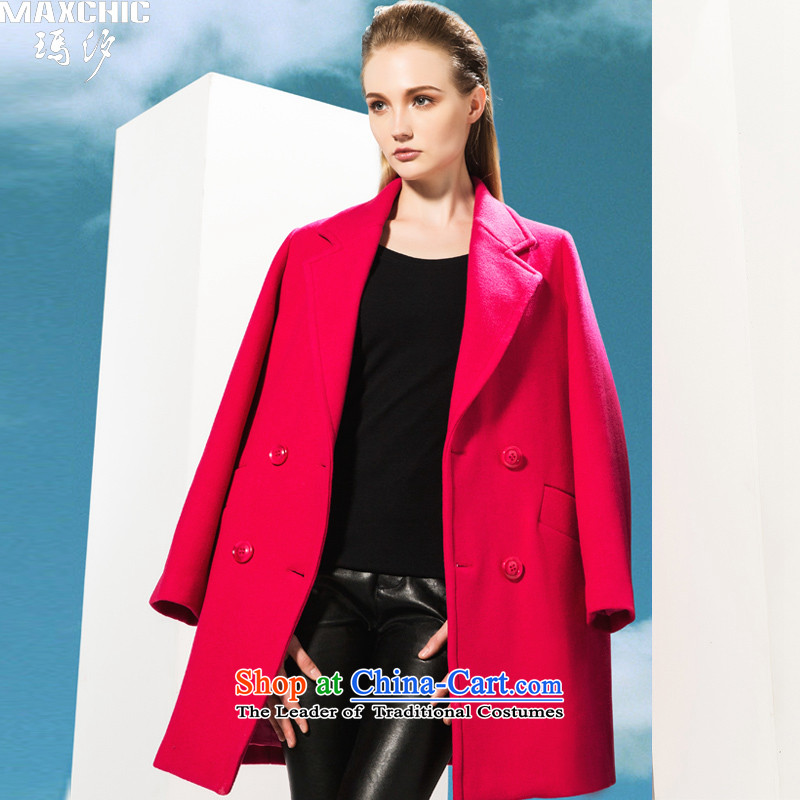 Marguerite Hsichih maxchic 2015 autumn and winter, western style, double-suit for the auricle-wool coat 20742? The Red燤