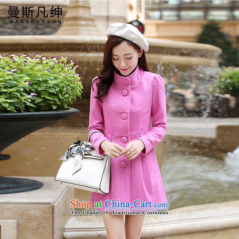 Maans where Clifford Chance? Women's blouses coats gross 2015 autumn and winter female new a windbreaker. Long Korean collar loose video 3 thin snap rubber red?M