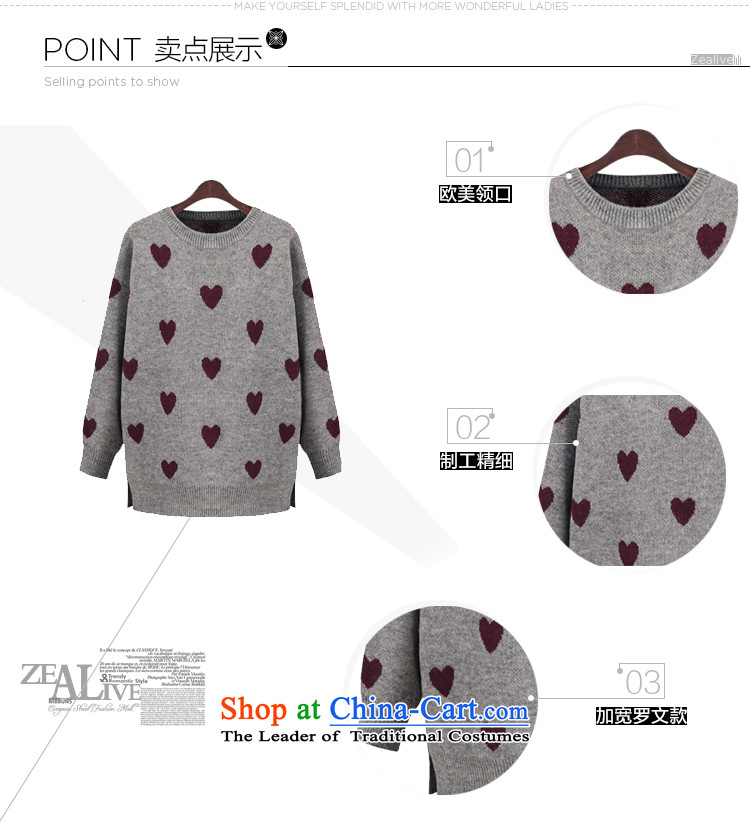 Elizabeth sub-New) Autumn 2015 to increase the number of women with thick MM autumn and winter sweater with sleek and versatile graphics thin, forming the knitwear sweater m9155 gray XXL picture, prices, brand platters! The elections are supplied in the national character of distribution, so action, buy now enjoy more preferential! As soon as possible.