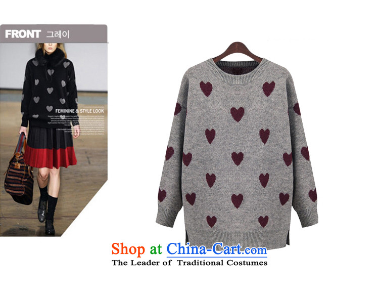 Elizabeth sub-New) Autumn 2015 to increase the number of women with thick MM autumn and winter sweater with sleek and versatile graphics thin, forming the knitwear sweater m9155 grayXXL picture, prices, brand platters! The elections are supplied in the national character of distribution, so action, buy now enjoy more preferential! As soon as possible.