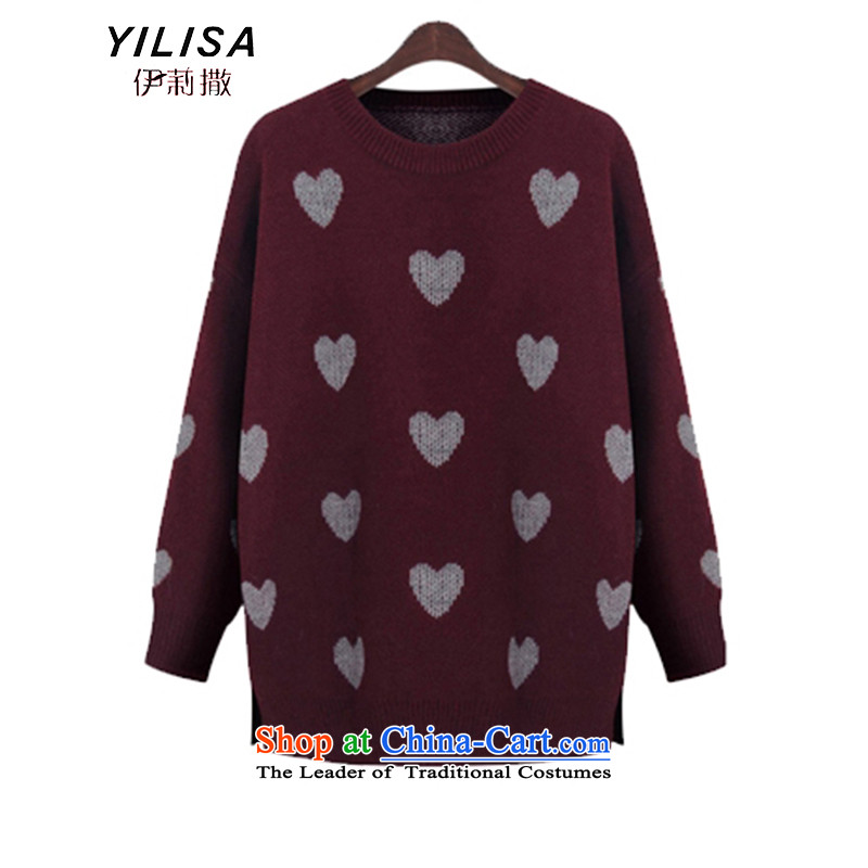Elizabeth sub-New) Autumn 2015 to increase the number of women with thick MM autumn and winter sweater with sleek and versatile graphics thin, forming the knitwear sweater m9155 gray XXL, Elizabeth YILISA (sub-) , , , shopping on the Internet