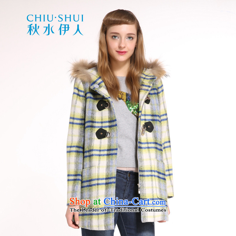 Chaplain who winter clothing new stylish female Korean campaign liberal sub for long hair plaid wool coat yellow 165/88A/L?
