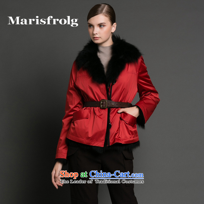 Marguerite had Rumsfeld marisfrolg Red Sleeve Jacket fur stylish winter female new other red�L_40