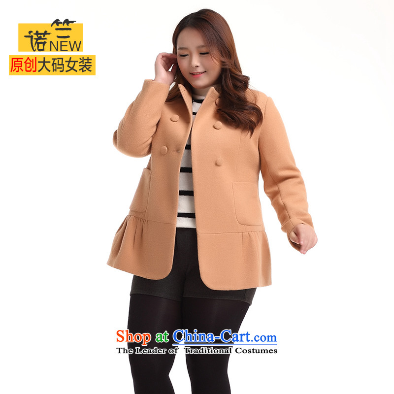 The requested maximum number of ladies thick sister Fall_Winter Collections of female graphics thick, thin to thick MM increase 200 catties western creases lace loose coat and colors so gross larger 5XL