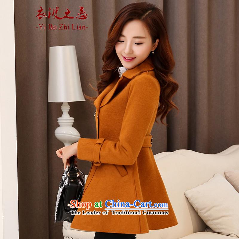 Yi love wave 2015 autumn and winter new Korean female jacket? gross in Sau San long coats of _�27? female爋range燤