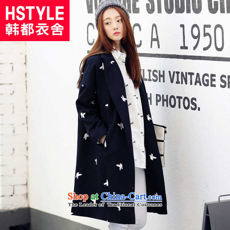 Korea has the Korean version of the Dag Hammarskjöld yi 2015 winter clothing new women in cardigan long hair? blue jacket YQ4423 restaurant M