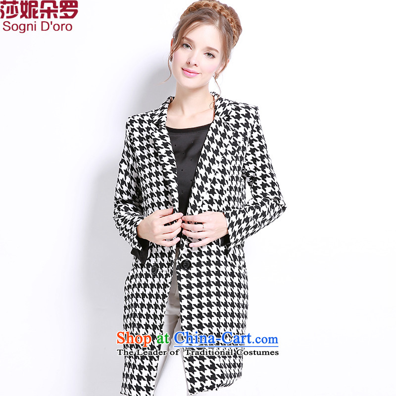 Luo Shani flower code women autumn and winter jackets thick mm new to increase video thin thick sister long coats聽6XL 3301 Light Gray