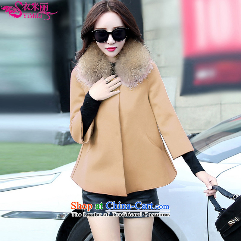 Yi Millies 2015 winter clothing new Korean cloak? jacket short of gross shawl a coat 8105-燣