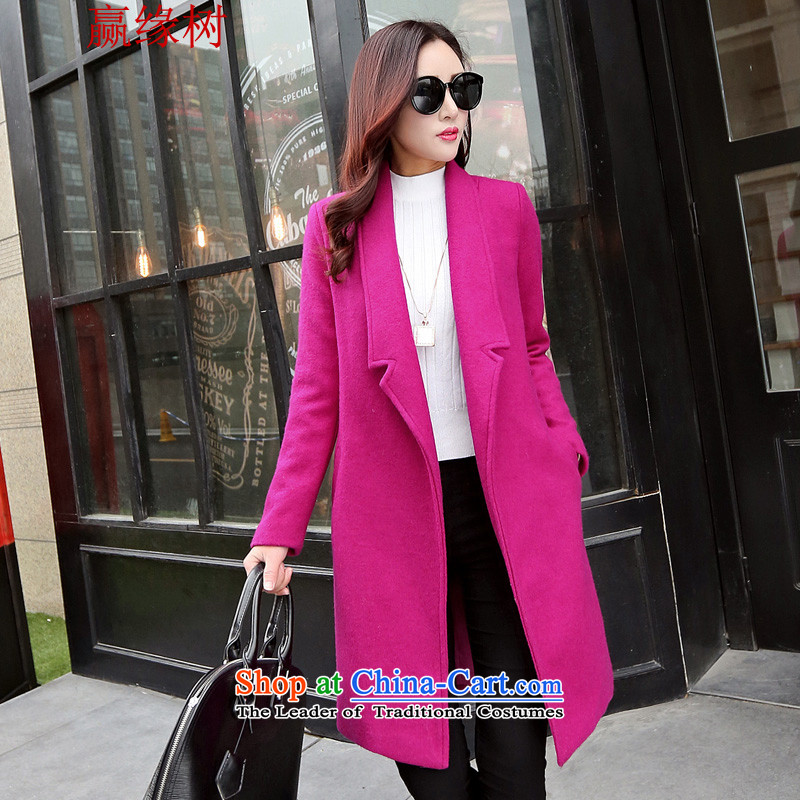 Win?2015 autumn and winter Tree Edge new gross coats and women code? In long edition won Sau San wool coat spooncase of lint-free?? 124-135 XL catty