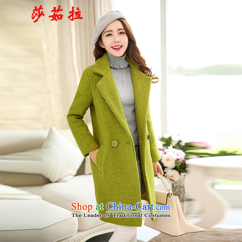 Elisabeth Jula 2015 winter decorated in warm thick larger gross? coats that long jacket coat Ms. gross? What suits for sub-jacket green L