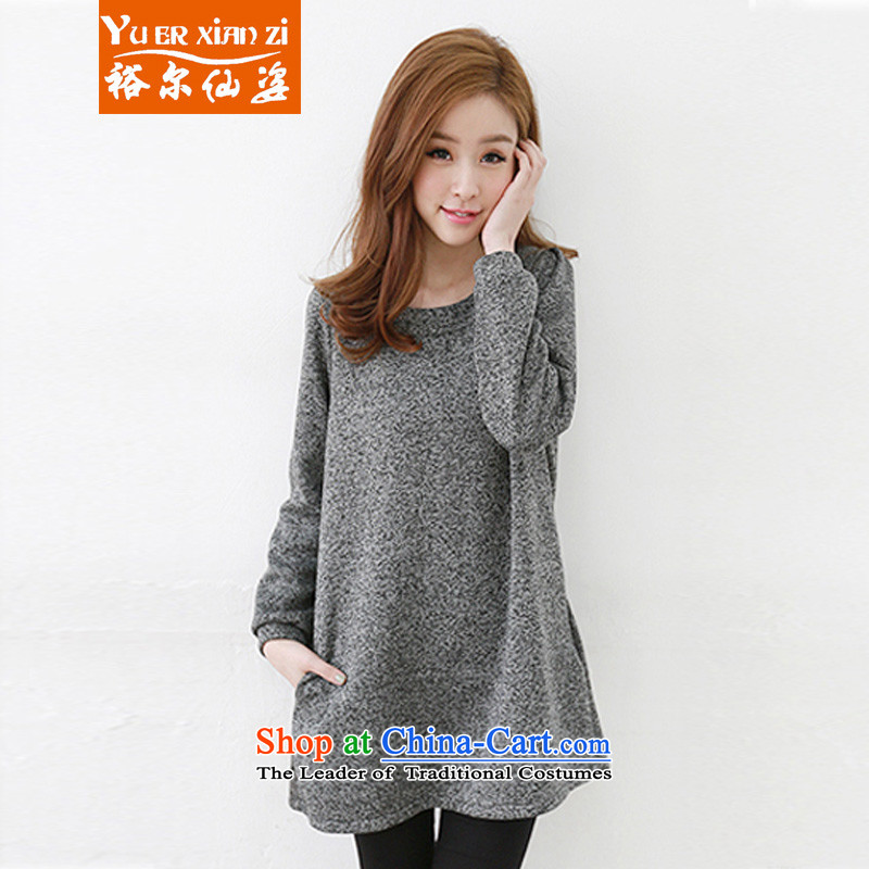 Yu-Sin-to increase women's code 2015 autumn and winter new fat mm thin in the Korean version of Liberal Women clothes, forming the sweater dresses 191 Gray 4XL recommends that you 160-180 catty