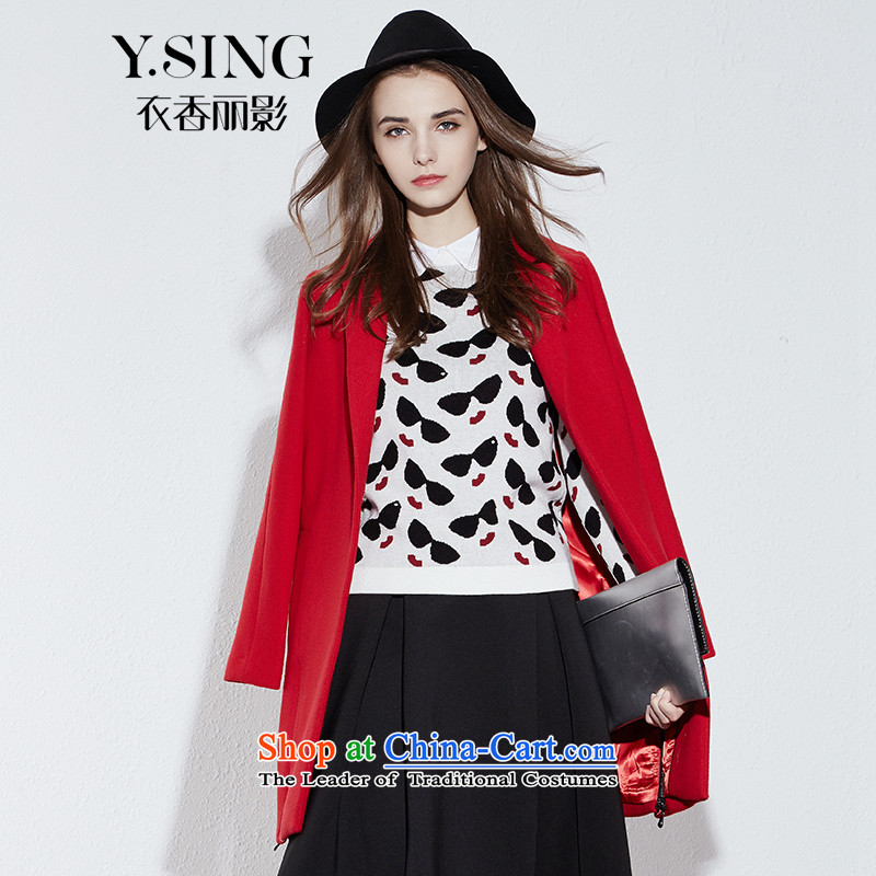 [i] to buy three from Hong Lai Ying 2015 Fall/Winter Collections new Korean citizenry in elegant graphics thin long solid color jacket female Red Hair? (11 S