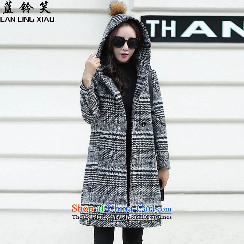 Blue Bell laugh 2015 autumn and winter new Korean version of female jacket coat gross? M9119 gray cells color M