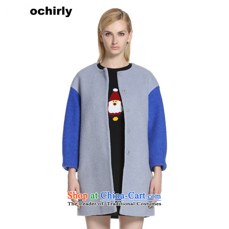The new Europe, ochirly women in loose stitching long-wool? jacket Marker Light Gray 080 M_165_88a_ 1143346230