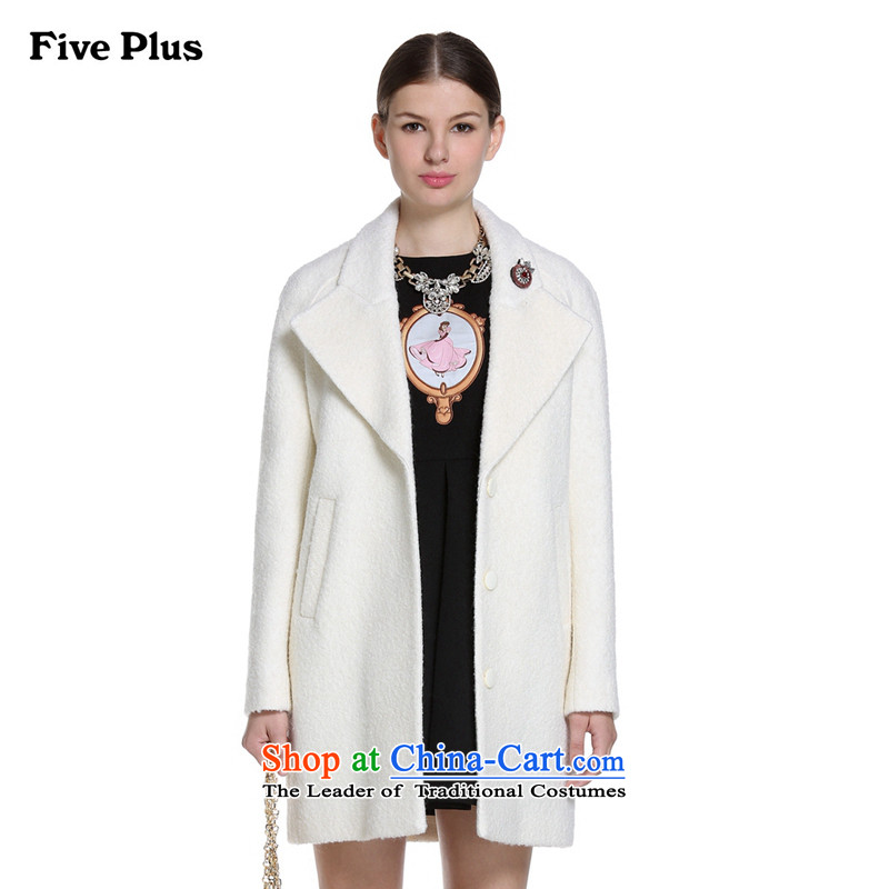 Five new female autumn load plus suits for long hair loose overcoats 2YD4344800? m White S_160_84a_ 010