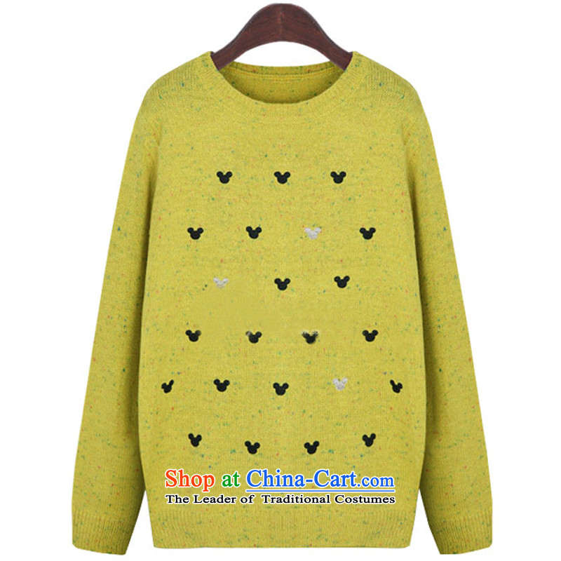 Gilland adjustable to xl sweater kit and large hedge mm female 200 catties Korean thick sister video thin yellow燲XXL5652